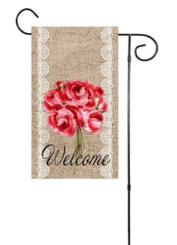 Burlap Bouquet Garden Flag
