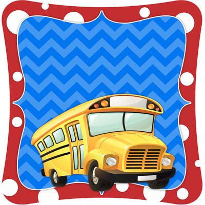 Custom Back to School - School Bus Door Hanger