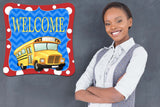 Back to School - School Bus Door Hanger