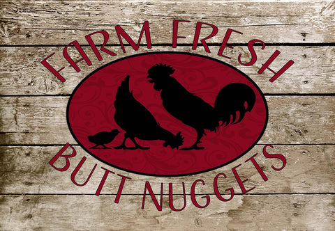 Farm Fresh Butt Nuggets - Chicken Welcome Mat