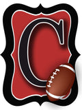 Red & Black Football Door Hanger