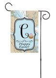 Happy Easter - Initial Nautical Garden Flag