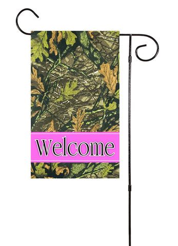 Camo Pink Double Sided Garden Flag