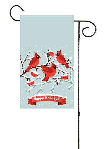 Cardinals - Merry Christmas Garden Flag