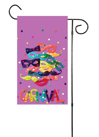 Carnival! Purple Garden Flag