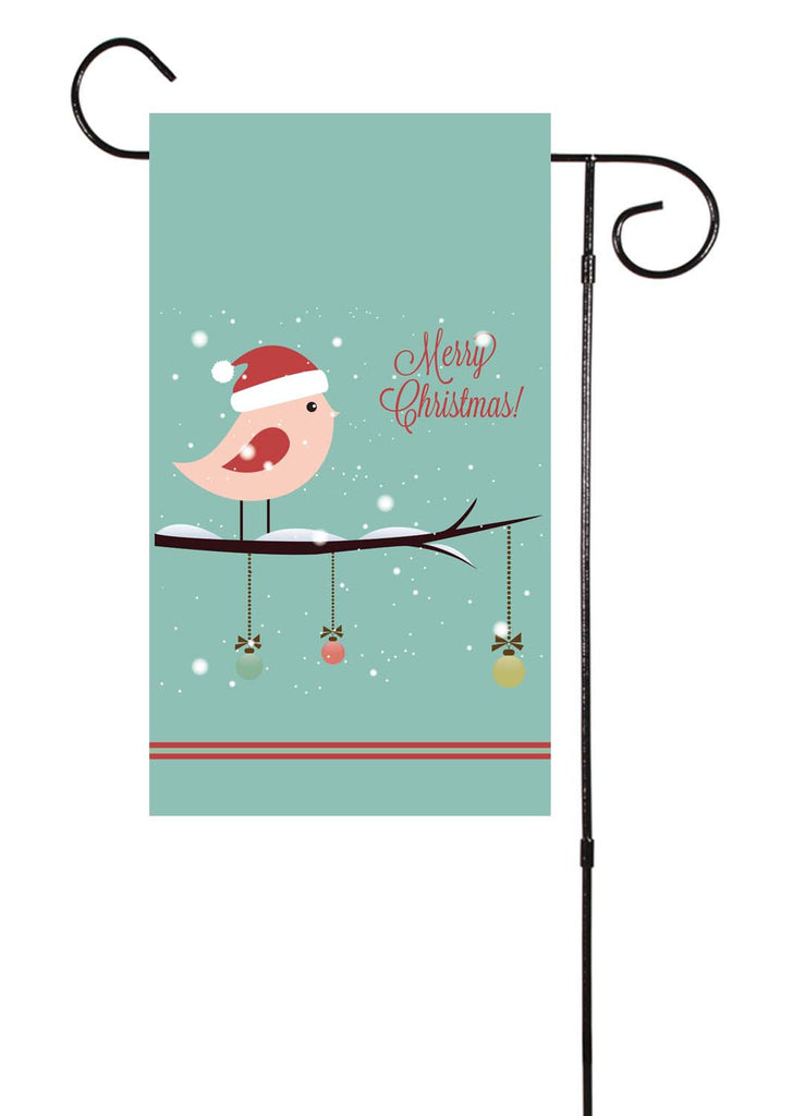 Christmas Bird Garden Flag