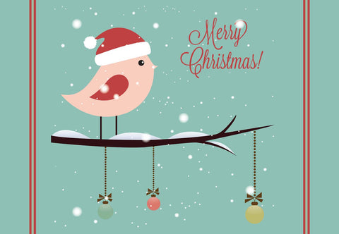 Christmas Bird Welcome Mat