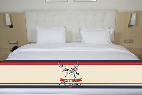 Merry Christmas Buck Bed Runner