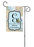 Merry Christmas - Initial Nautical Garden Flag