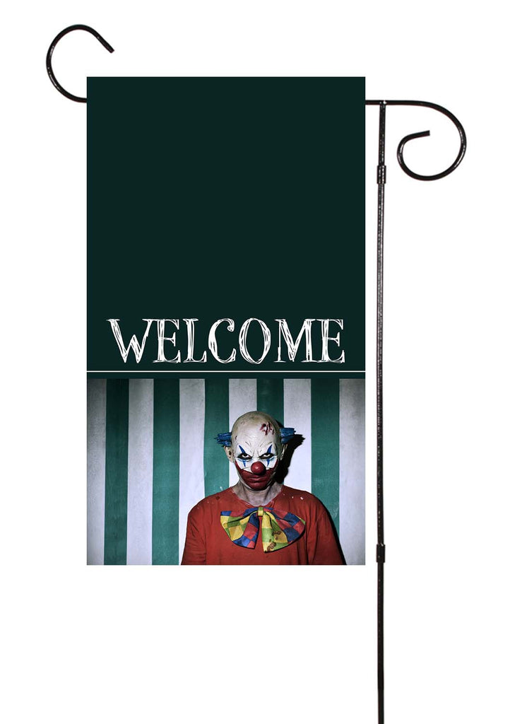 Scary Clown - Welcome Halloween Garden Flag
