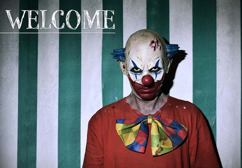 Scary Clown - Halloween Welcome Mat