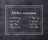 Kitchen Conversions Vinyl Print