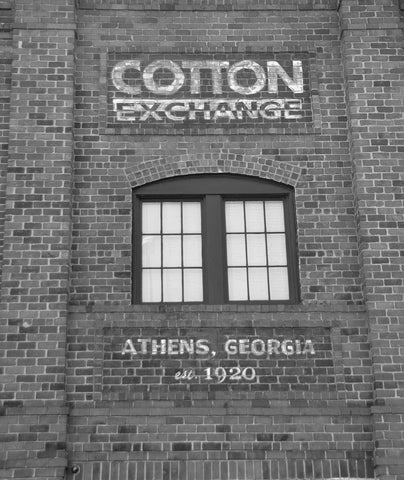 Cotton Exchange - Athens, Georgia Black & White Vinyl Print
