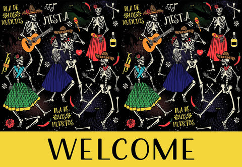 Day Of The Dead Welcome Mat