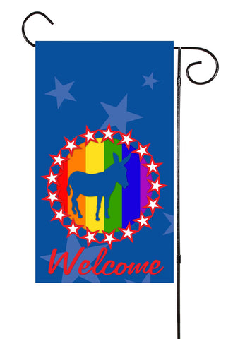 Rainbow Pride Political Garden Flag