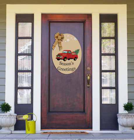 Pumpkin Pickin' and Seasons Greeting - Truck Double Sided Door Hanger