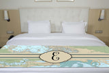 Nautical Chart with Initial Bed Runner