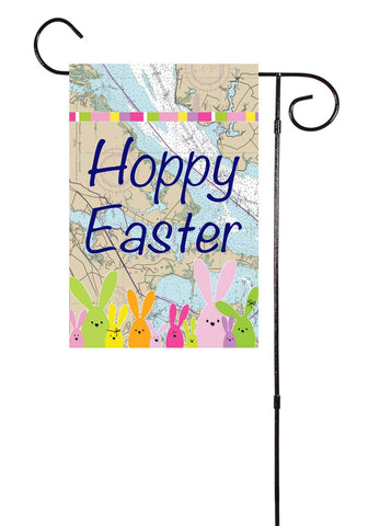 Hoppy Easter - Nautical Garden Flag