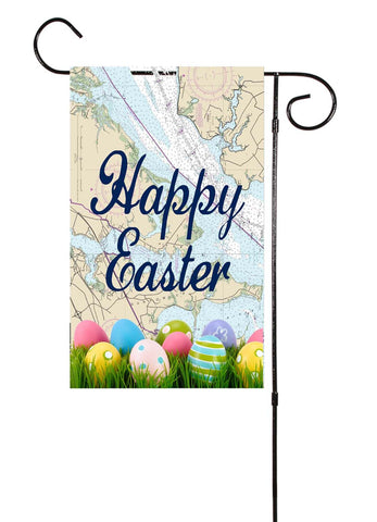 Happy Easter Nautical Garden Flag