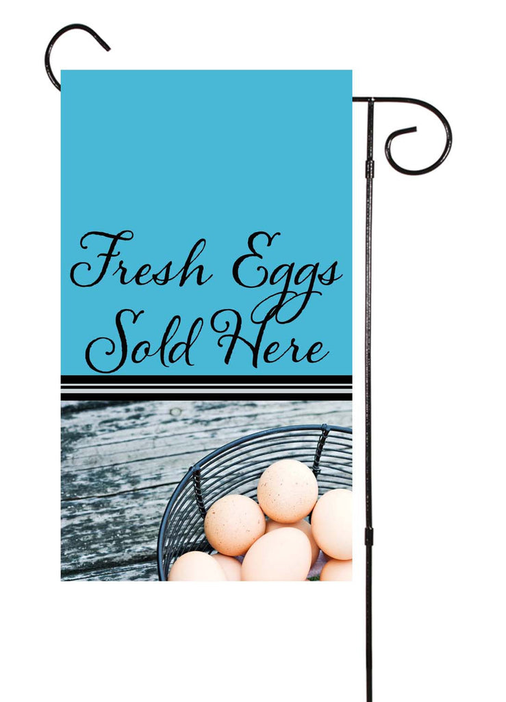 Farm Fresh Eggs Sold Here Chicken Garden Flag