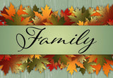 Family - Fall Leaves Welcome Mat