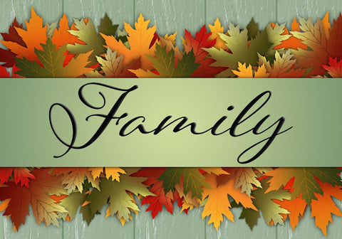 Family - Autumn Leaves Vinyl Print