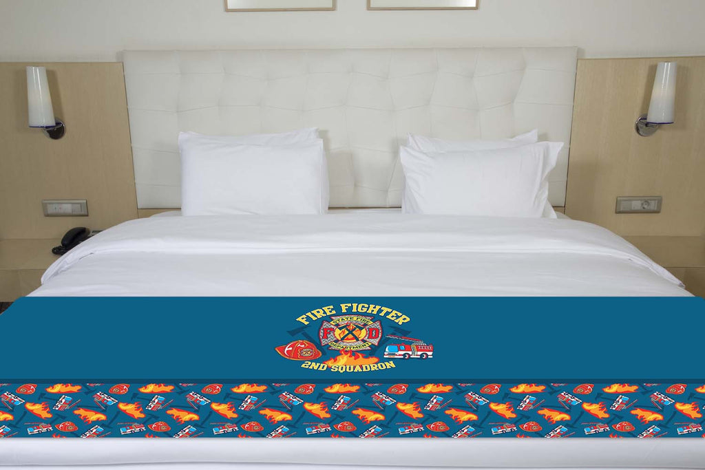 Firefighter Bed Runner