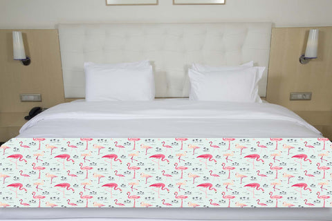 Pink Flamingos Bed Runner