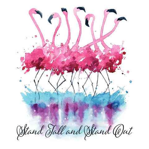Pink Flamingo - Stand Tall & Stand Out Vinyl Print