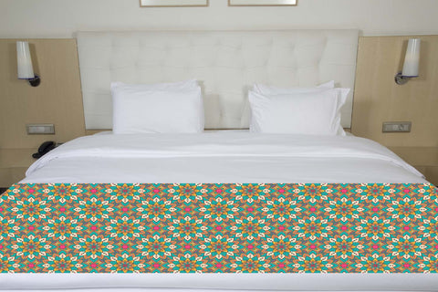 Floral Mandala Bed Runner
