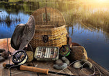 Fly Fishing Basket Welcome Mat