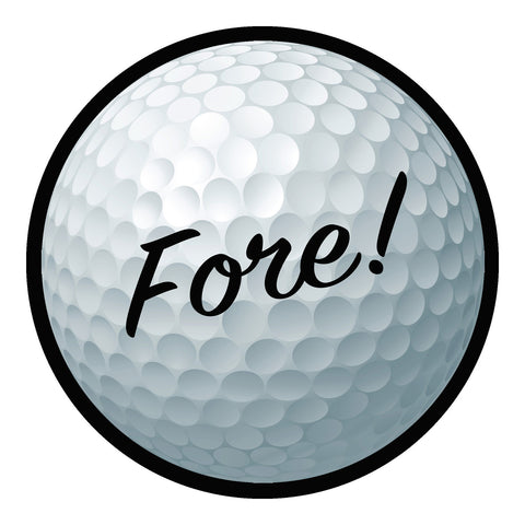Fore! Golf Sticker