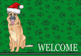 Christmas German Shepard Dog Welcome Mat