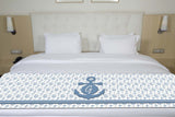 Ship Wheels & Anchors Initial Premium Bed Runner