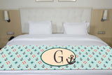 Anchors & Lifesavers Initial Premium Bed Runner