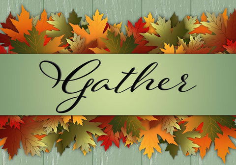Gather - Autumn Leaves Vinyl Print