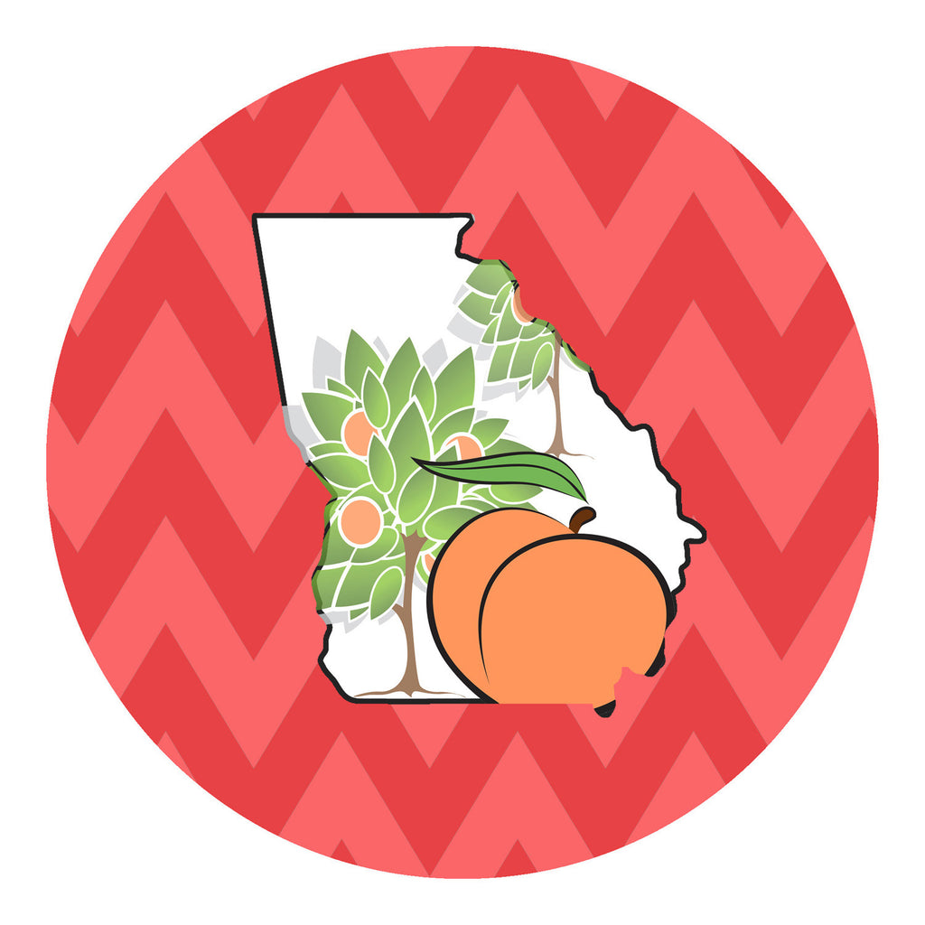 Georgia Peach Tree Sticker