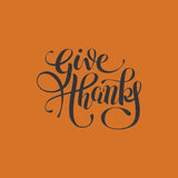 Give Thanks Hand Lettering Thanksgiving Vinyl Print