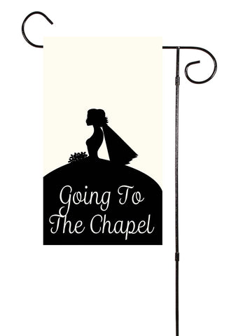 Going To The Chapel Wedding Bridal Garden Flag