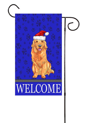 Christmas Golden Retriever Garden Flag