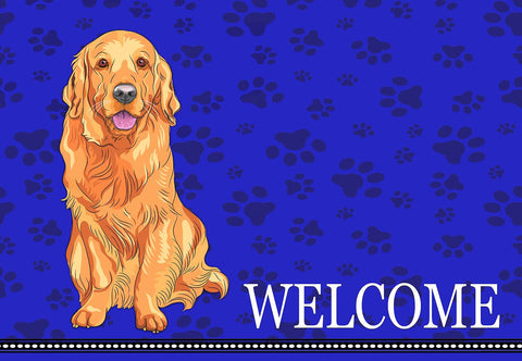 Golden Retriever Welcome Mat