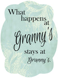 What Happens At NaNa, Granny, Grandma, Glam-Ma, GiGi or MiMi's Door Hanger