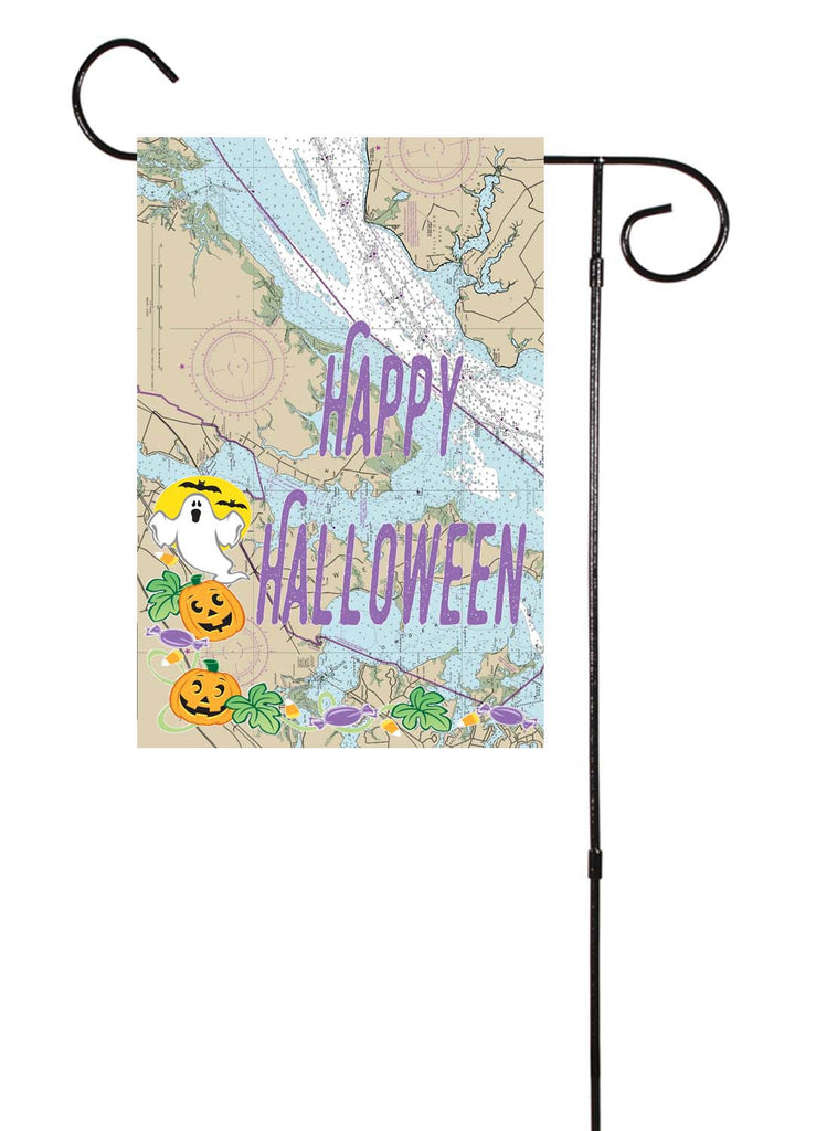 Happy Halloween Nautical Garden Flag