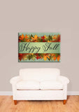 Happy Fall - Autumn Leaves Vinyl Print