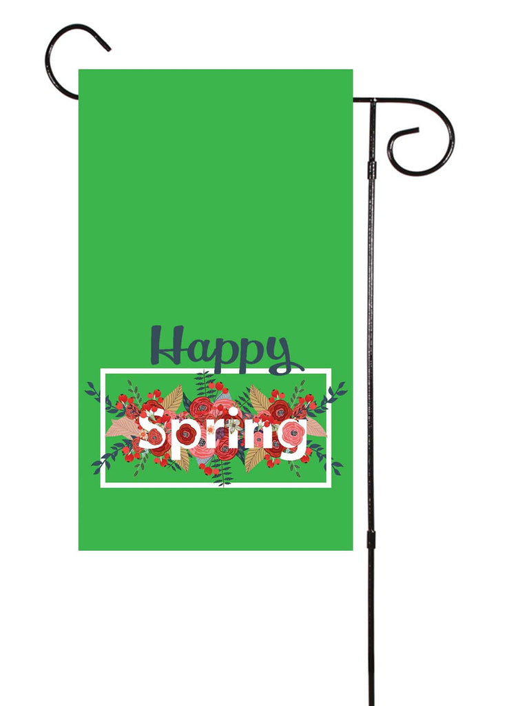 Happy Spring - Green Garden Flag