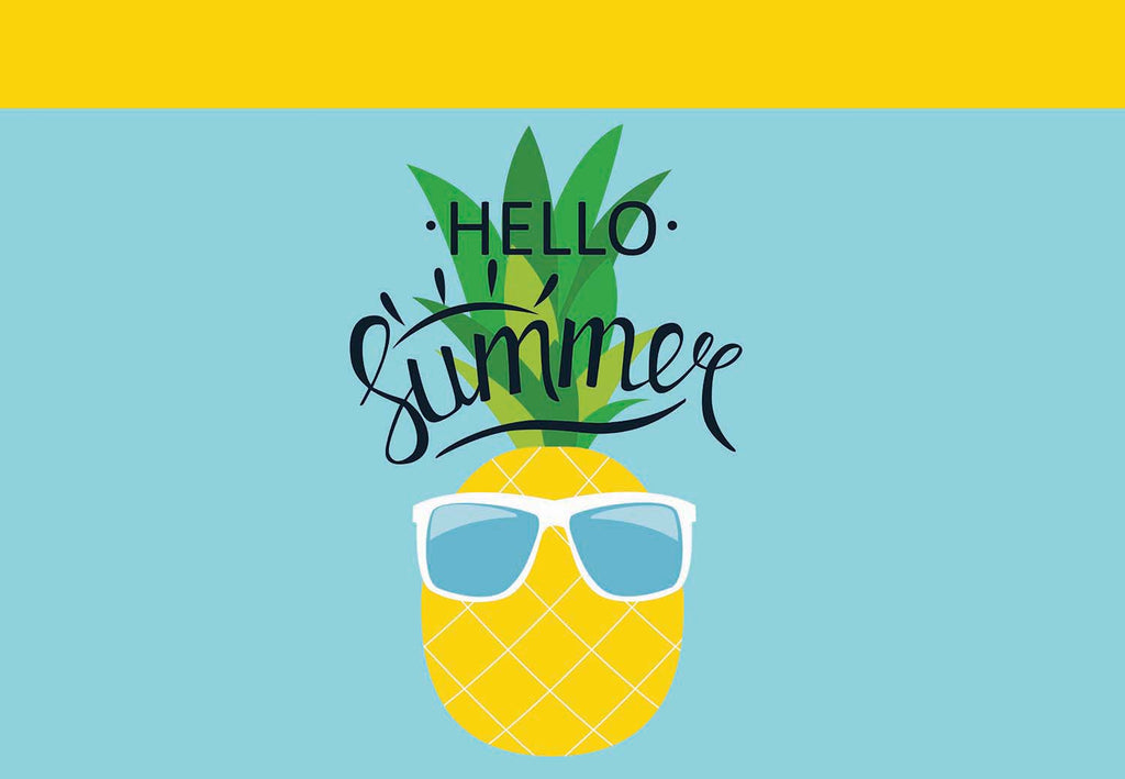 Hello Summer - Pineapple with Sunglasses Welcome Mat