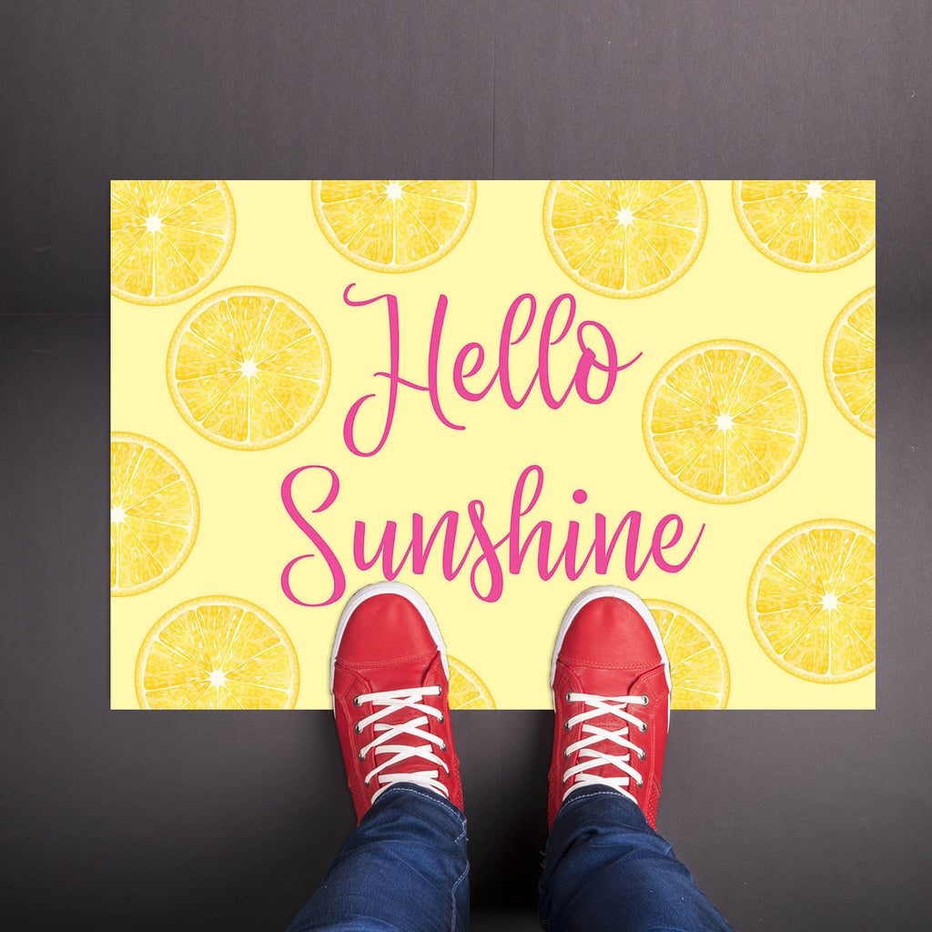 Hello Sunshine Lemon - Summer Welcome Mat