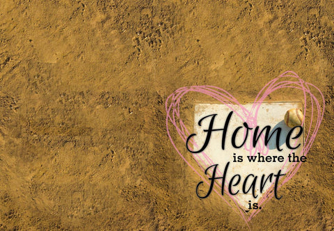Home Is Where The Heart Is - Baseball / Softball Welcome Mat