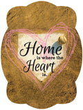 Home Is Where The Heart Is - Baseball / Softball Door Hanger