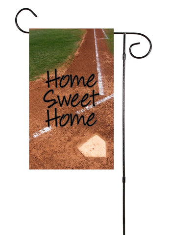 Home Sweet Home Baseball Softball Garden Flag